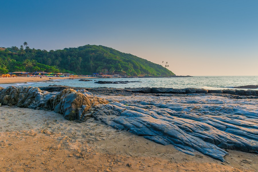 Пляж в Северном Гоа, Индия.