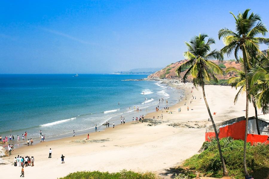 Пляж в Южном Гоа, Индия.