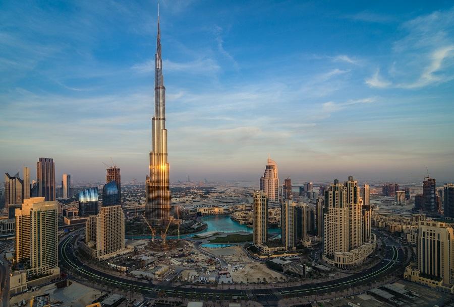 Бурдж-Халифа, Дубай, ОАЭ.   Едем в Дубай Едем в Дубай