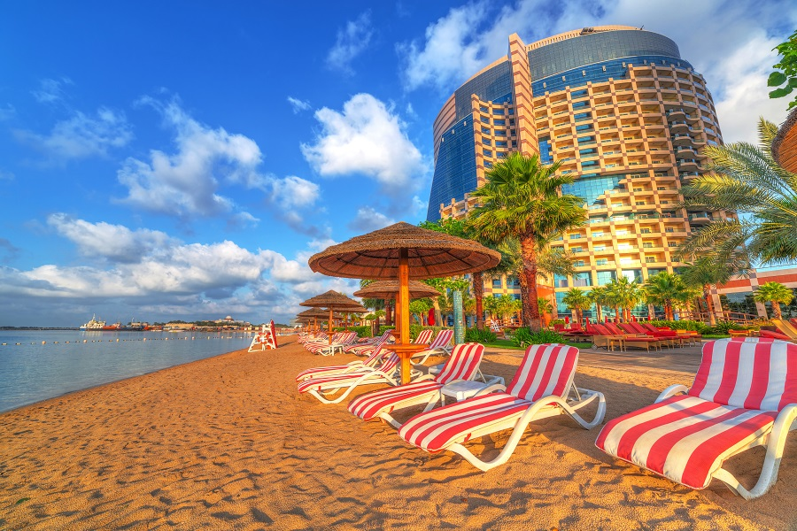 Пляж Саадият, Дубай, ОАЭ.