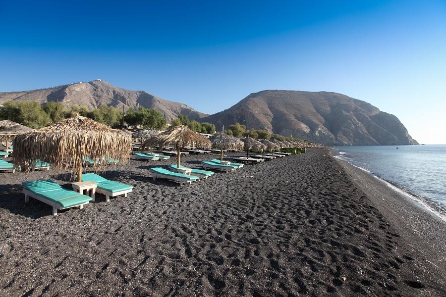 Пляж Периволос. Санторини, Греция