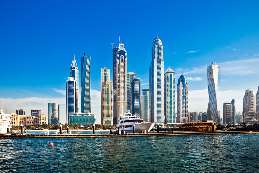 Дубай Марина, Дубай, ОАЭ.   Едем в Дубай Едем в Дубай